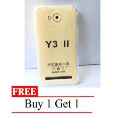 Case Anti Shock / Anti Crack Elegant Softcase for Huawei Y3II / Y3ii -  Clear + Free Buy 1 Get 1