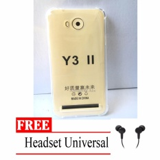 Case Anti Shock / Anti Crack Elegant Softcase for Huawei Y3II / Y3ii -  Clear + Free Headset Universal