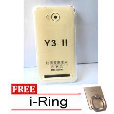 Case Anti Shock / Anti Crack Elegant Softcase for Huawei Y3II / Y3ii -  Clear + Free i-Ring