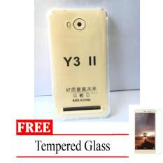 Case Anti Shock / Anti Crack Elegant Softcase for Huawei Y3II / Y3ii -  Clear + Free Tempered Glass