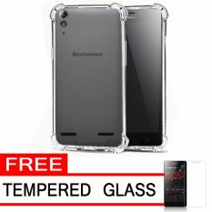 Case Anti Shock / Anti Crack Elegant Softcase  for Lenovo A6000 / Lenovo A6000 Plus - White Clear + Free Tempered Glass