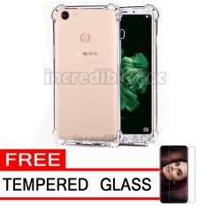 Case Anti Shock / Anti Crack Elegant Softcase  for Oppo F5 - White Clear + Free Tempered Glass
