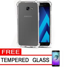 Case Anti Shock / Anti Crack Elegant Softcase  for Samsung Galaxy A5 2017 - White Clear + Free Tempered Glass