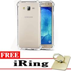 Case Anti Shock / Anti Crack Elegant Softcase  for Samsung Galaxy J2 2015 (J200) - White Clear + Free iRing