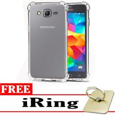 Case Anti Shock / Anti Crack Elegant Softcase  for Samsung Galaxy J2 Prime - White Clear + Free iRing
