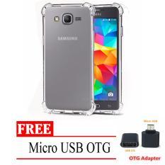 Case Anti Shock / Anti Crack Elegant Softcase for Samsung Galaxy J5 / J500 / J5 2015 / 4G LTE -  Clear + Free Micro USB OTG