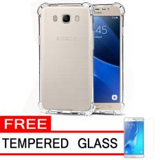 Case Anti Shock / Anti Crack Elegant Softcase  for Samsung Galaxy J5 2016 (J510) - White Clear + Free Tempered Glass