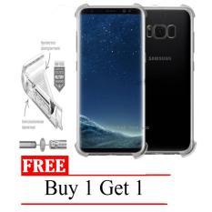 Case Anti Shock / Anti Crack Elegant Softcase for Samsung Galaxy S8 (biasa) -  Clear + Free Buy 1 G