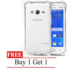 Case Anti Shock / Anti Crack Elegant Softcase for Samsung Galaxy V / G313 / Ace 4 -  Clear + Free Buy 1 Get 1