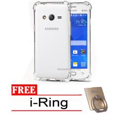 Case Anti Shock / Anti Crack Elegant Softcase for Samsung Galaxy V / G313 / Ace 4 -  Clear + Free i-Ring