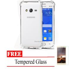 Case Anti Shock / Anti Crack Elegant Softcase for Samsung Galaxy V / G313 / Ace 4 -  Clear + Free Tempered Glass