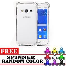 Case Anti Shock / Anti Crack Elegant Softcase  for Samsung Galaxy V - White Clear + Free Spinner 3 Side Black Circle Random Color
