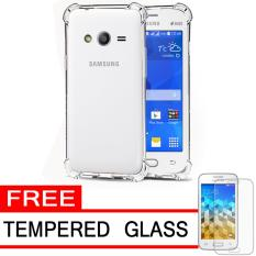 Case Anti Shock / Anti Crack Elegant Softcase  for Samsung Galaxy V (G313) - White Clear + Free Tempered Glass