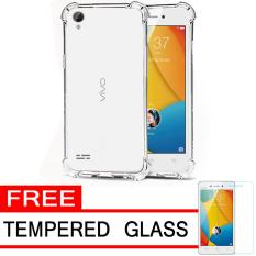 Case Anti Shock / Anti Crack Elegant Softcase  for Vivo Y31 - White Clear + Free Tempered Glass
