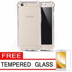 Case Anti Shock / Anti Crack Elegant Softcase  for Vivo Y53 - White Clear + Free Tempered Glass