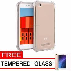 Case Anti Shock / Anti Crack Elegant Softcase  for Xiaomi Redmi 3 - White Clear + Free Tempered Glass