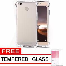 Case Anti Shock / Anti Crack Elegant Softcase  for Xiaomi Redmi 3s Pro - White Clear + Free Tempered Glass