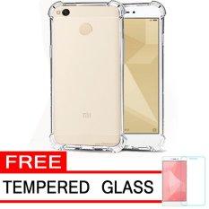 Case Anti Shock / Anti Crack Elegant Softcase  for Xiaomi Redmi 4x - White Clear + Free Tempered Glass