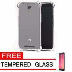 Case Anti Shock / Anti Crack Elegant Softcase  for Xiaomi Redmi Note 2 - White Clear + Free Tempered Glass