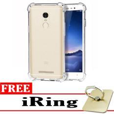 Case Anti Shock / Anti Crack Elegant Softcase  for Xiaomi Redmi Note 3 Pro - White Clear + Free iRing