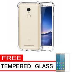 Case Anti Shock / Anti Crack Elegant Softcase  for Xiaomi Redmi Note 3 Pro - White Clear + Free Tempered Glass
