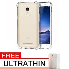 Case Anti Shock / Anti Crack Elegant Softcase  for Xiaomi Redmi Note 3 Pro - White Clear + Free Ultrathin