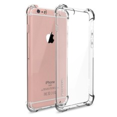 Case Anti Shock / Anti Crack for Iphone 4 - Belakang Acrilic Keras - Pinggir Silicone Soft - Clear