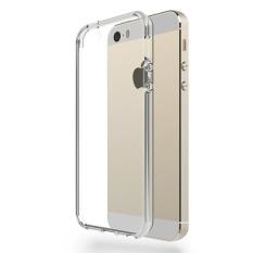 Case Anti Shock Anti Crack HardSoft Casing for iPhone 4 / 4S - Belakang Acrilic Keras - Pinggir Silicone Soft - Clear
