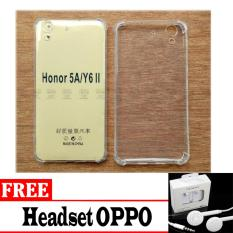 Case Anti Shock / Anti Pecah / Anti Crack Elegant Softcase for Huawei Honor 5A / Y6 II + Bonus Headset OPPO
