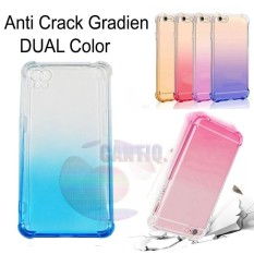 Case Anti Shock Gradient Oppo A37 Neo 9 Ultrathin Anti Crack Elegant Softcase Anti Jamur Air Case 0.3mm / Silicone Oppo Neo 9 / Soft Case / Silikon Anti Crack Warna / Case Hp / Case Oppo A37 / Pelindung Hp - Blue / Biru
