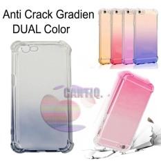 Case Anti Shock Gradient Oppo F1S A59 Ultrathin Anti Crack Elegant Softcase Anti Jamur Air Case 0.3mm / Silicone Oppo A59 / Soft Case / Silikon Anti Crack Warna / Case Hp / Case Oppo F1S / Pelindung Hp - Hitam