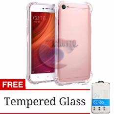 Case Anti Shock Oppo A71 Ultrathin Anti Crack Elegant Softcase Anti Jamur Air Case 0.3mm / Silicone Oppo A 71 / Soft Case / Silikon Anti Crack / Case Hp / Case OppoA71 + FREE Tempere Glass - Putih Transparant