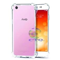 Case Anti Shock Vivo Y53 2017 Ultrathin Anti Crack Elegant Softcase Anti Jamur Air Case 0.3mm / Silicone Vivo Y53 2017 / Soft Case / Silikon Anti Crack / Case Hp / By 1 Get 1 FREE - Putih Transparant