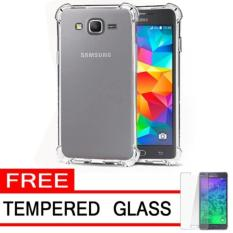 Case AntiCrack / Anti Crack / Shock / Benturan Elegant Softcase for Samsung Galaxy Grand Prime / Duos / Plus / G350 / G350H + Gratis Free Tempered Glass - Clear