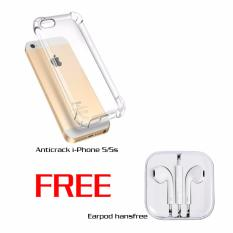 Case Anticrack i-Phone 5/5S Free Earpod handsfree White