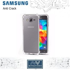 Case Anticrack Samsung Galaxy A3 2016 Anti Shock / Anti Crack Elegant Softcase for Samsung A3 2016 - White Clear