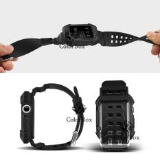Case Band Silikon Apple Watch Band 42mm Full Cover Dapat Silikon Pelindung Apple Watch dengan Silicone