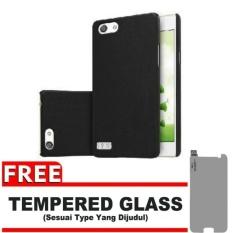 Case Black Moon Oppo Neo 7 / A33  Ultra Slim Matte Softcase (Anti Minyak) FREE Tempered Glass
