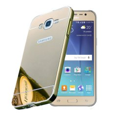 Case Bumper untuk Samsung Grand Prime Plus G531H 2 in 1 Slide Mirror Backcase Hardcase Sliding - Silver