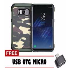 CASE CHANEL ARMY MILITARY ORIGINAL PC+TPU  SHOCKPROOF FOR SAMSUNG GALAXY S8  - GREEN ARMY FREE USB OTG