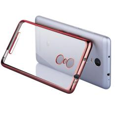 Toko Case List Chrome Softcase Jelly For Xiaomi Redmi Note 4 Rose Gold Casing