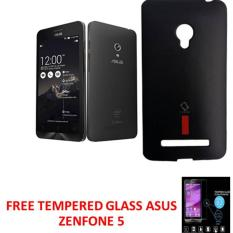 CASE EXECUTIVE CAPDASE SOFTJACKET CASING FOR ASUS ZENFONE 5 - FULL BLACK FREE TEMPERED GLASS