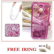 CASE EXECUTIVE FASHION  GLITTER  WATER BLINK FOR XIAOMI REDMI 4X - ROSE GOLD  FREE IRING
