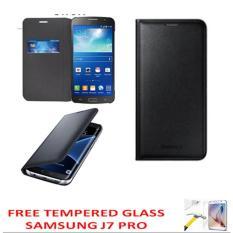 Harga Case Executive Leather Case Pu Kulit Samsung Flifcover Untuk Samsung Galaxy J7 Pro Black Free Tempered Glass Satu Set