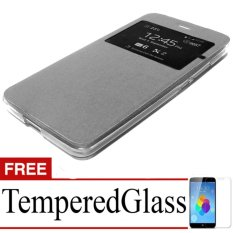 Jual Case Flip Cover For Oppo Mirror 5 Free Temperedglass Silver Case
