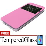Harga Case Flip Cover Hard Protective For Vivo Y35 Free Temperredglass Pink Branded