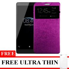 Case Flipcover Double Protective For Lenovo A7010 (Vibe K4 Note) + Free Ultrathin- Purple