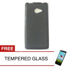 Case for Acer Z220 - Slim Soft Case - Hitam Solid + Gratis Tempered Glass