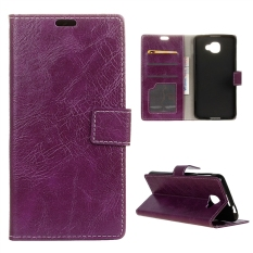 Case for Alcatel OneTouch Idol 4S Leather Crazy Horse Pattern Case Flip Stand Cover - Purple - intl