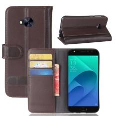 Case untuk ASUS ZenFone 4 Selfie Pro ZD552KL Dompet Kulit Asli Flip Stand Cover-Intl